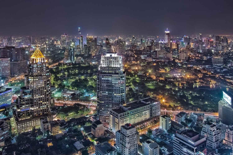 View from Vertigo & Moon Bar over Bangkok's sky line