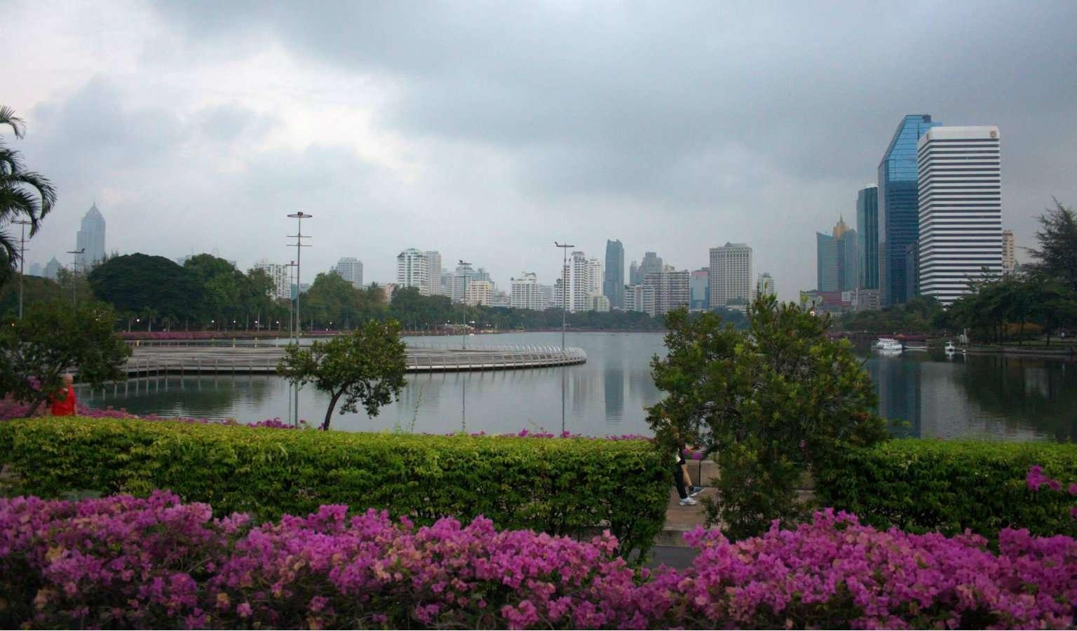 Benjakitti Park in Bangkok Thailand