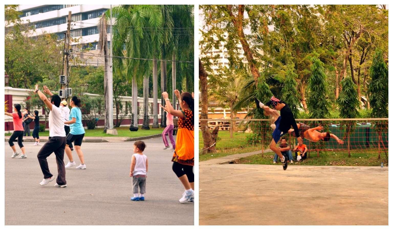 Beweging in het Lumphini Park in Bangkok, Thailand