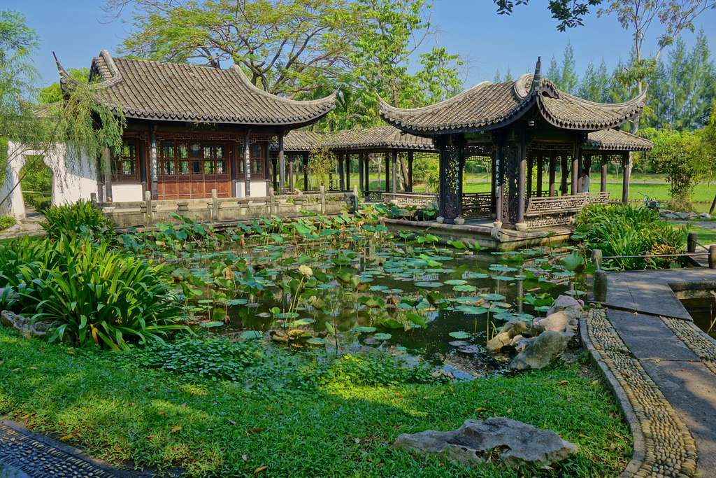 The Chinese garden at the King Rama IX Park