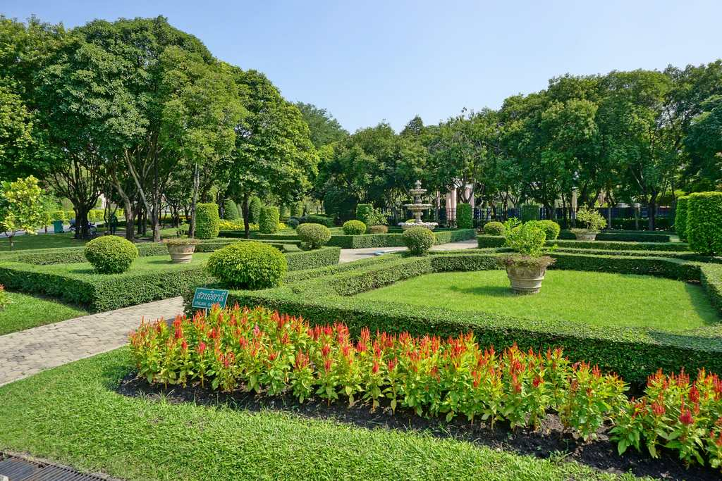 The Italian garden at the King Rama IX Park