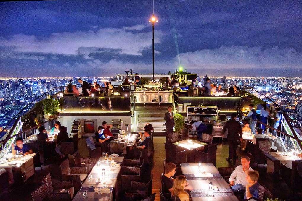 Vertigo & Moon Bar with spectaculair view over the sky line of Bangkok