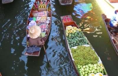 Amphawa Floating Market In Bangkok, Thailand