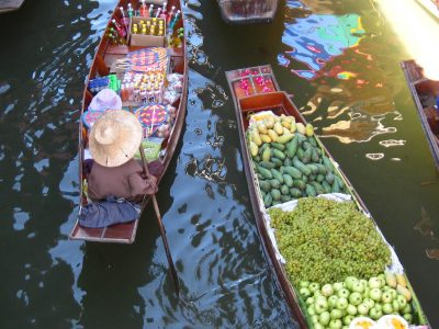 Amphawa Floating Market In Bangkok, Thailand