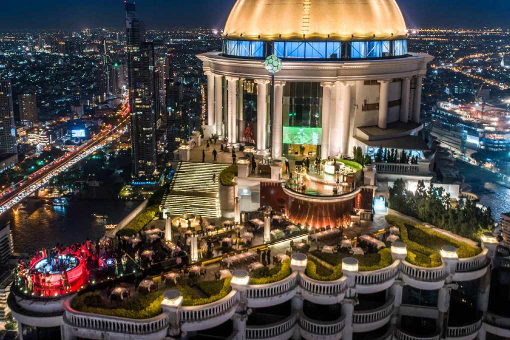 Sirocco @ Lebua seen from above with a drone