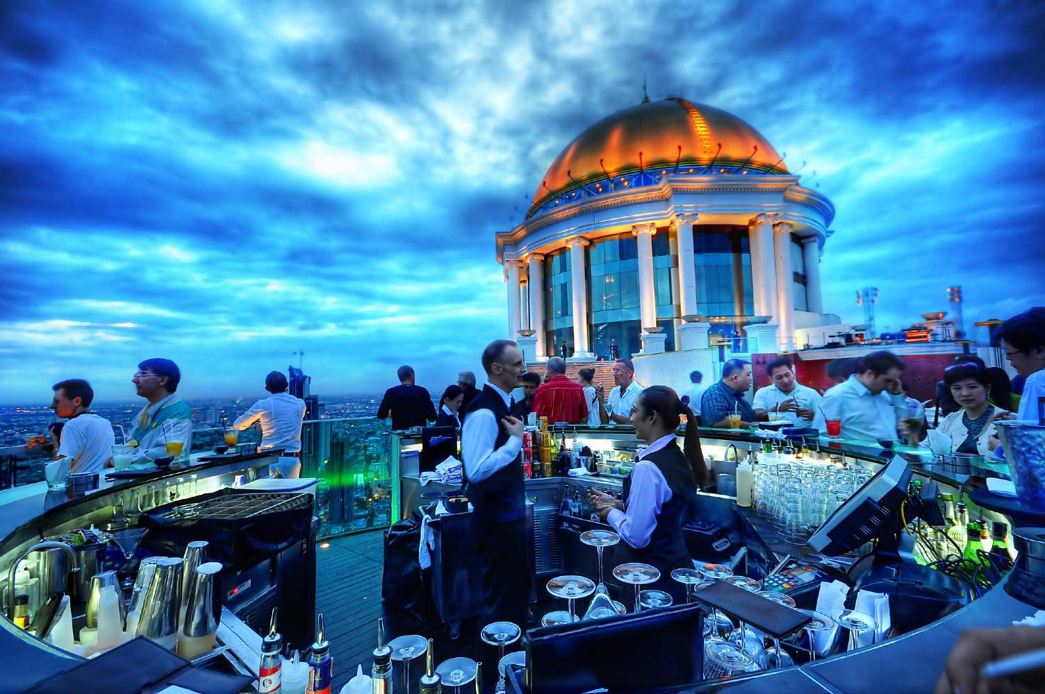The famous dome at the Lebua State Tower in Bangkok