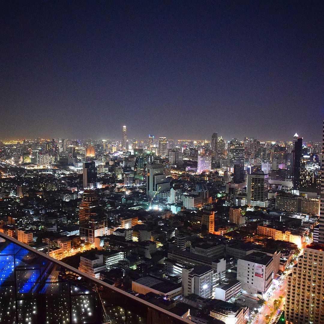 Uitzicht vanaf Sirocco @ Lebua over Bangkok