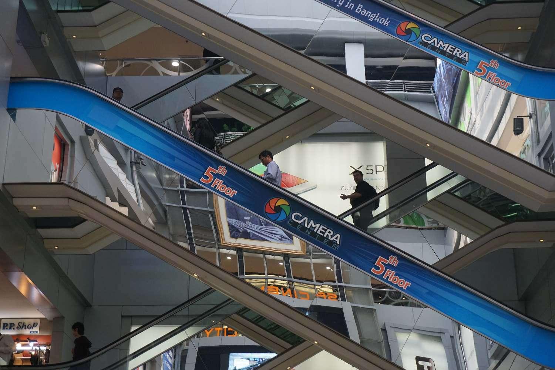 Escalators at MBK Center