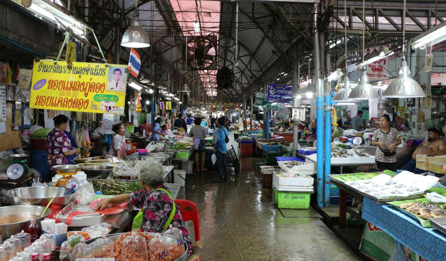 Maeklong Railway Markt in Thailand