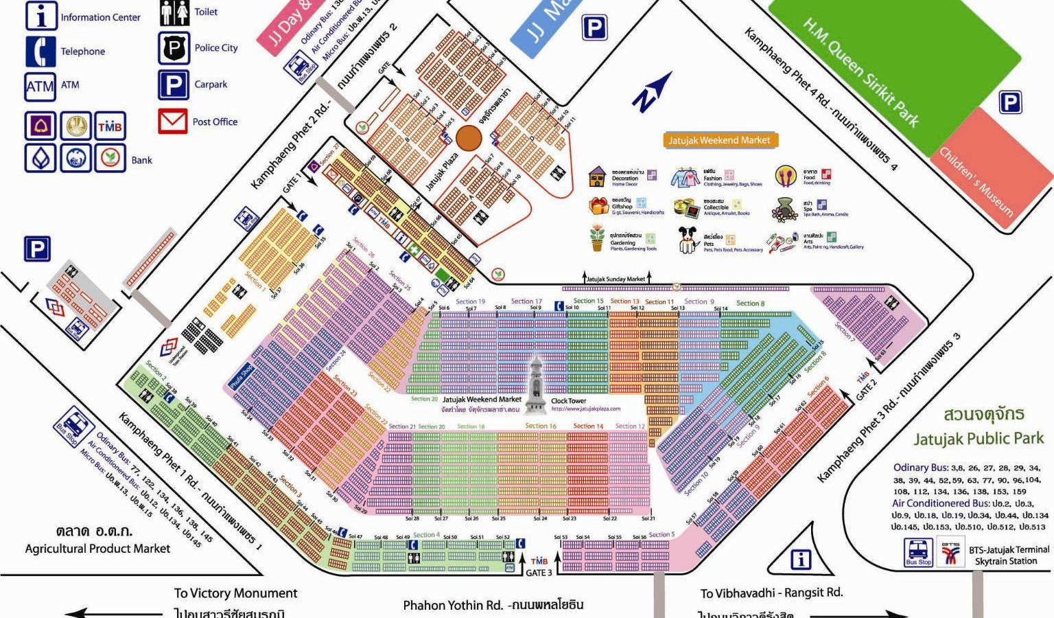 CHatuchak market floorplan