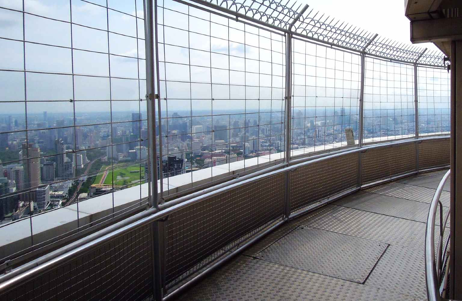 Revolving platform of the Baiyoke Sky with bars and amazing views over the skyline of Bangkok.