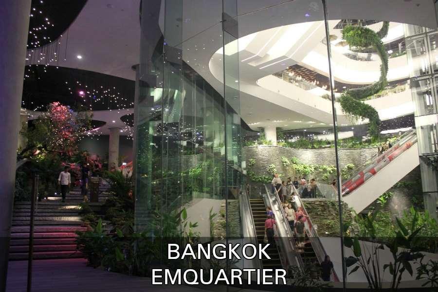 groene tuin in Emquartier winkelcentrum in Bangkok,
