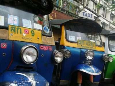 Tuk Tuk Vervoermiddel In Bangkok
