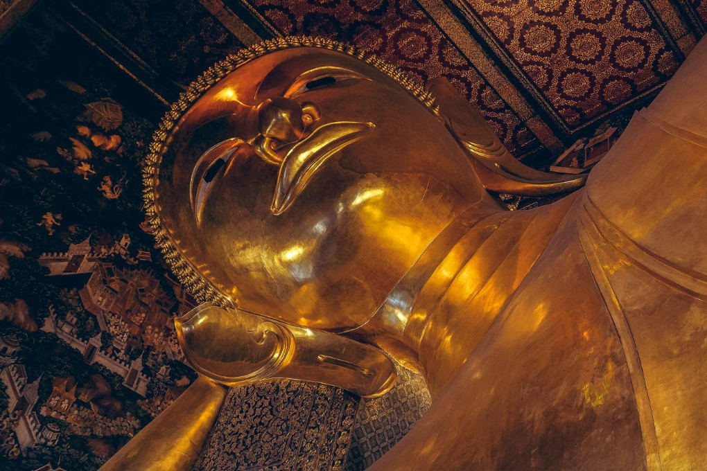 The resting head of the Reclining Buddha)