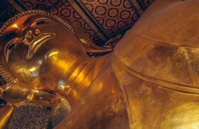 Wat Pho Liggende Boeddha In Bangkok, Thailand