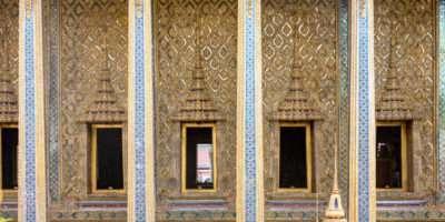 De Wat Phra Kaew, Tempel Van De Smaragdgroene Boeddha Op Het Grand Palace Terrein In Bangkok, Thailand
