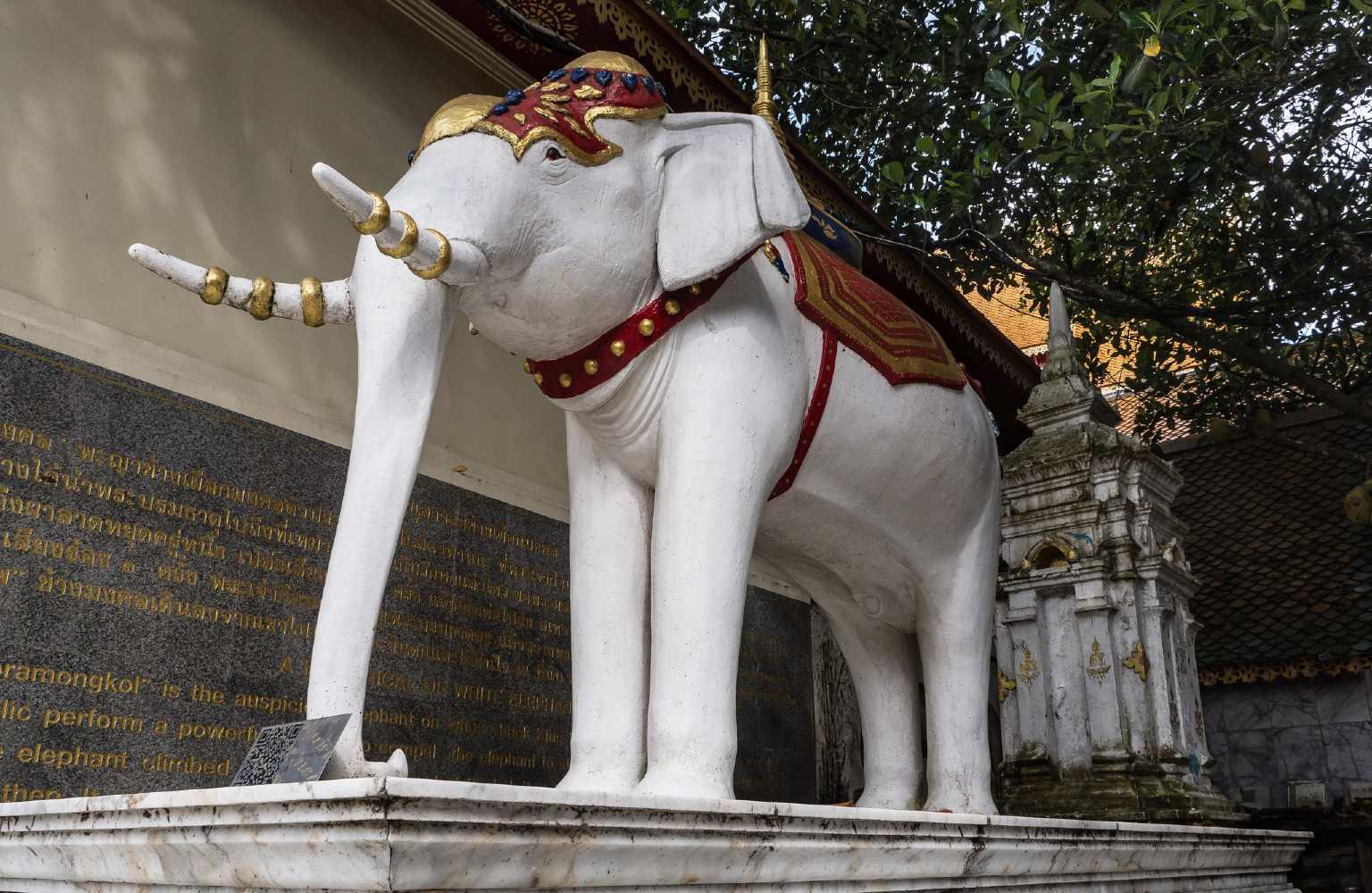 De witte olifant uit de legende van de Wat Phrathat Doi Suthep