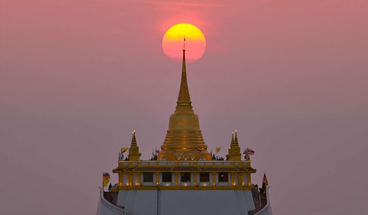 Wat Saket Golden Mount in Bangkok, Thailand