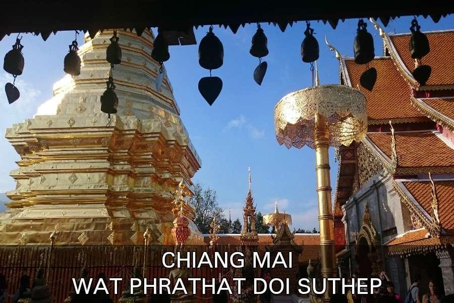 Wat Phrathat Doi Suthep Tempel In Chiang Mai, Thailand