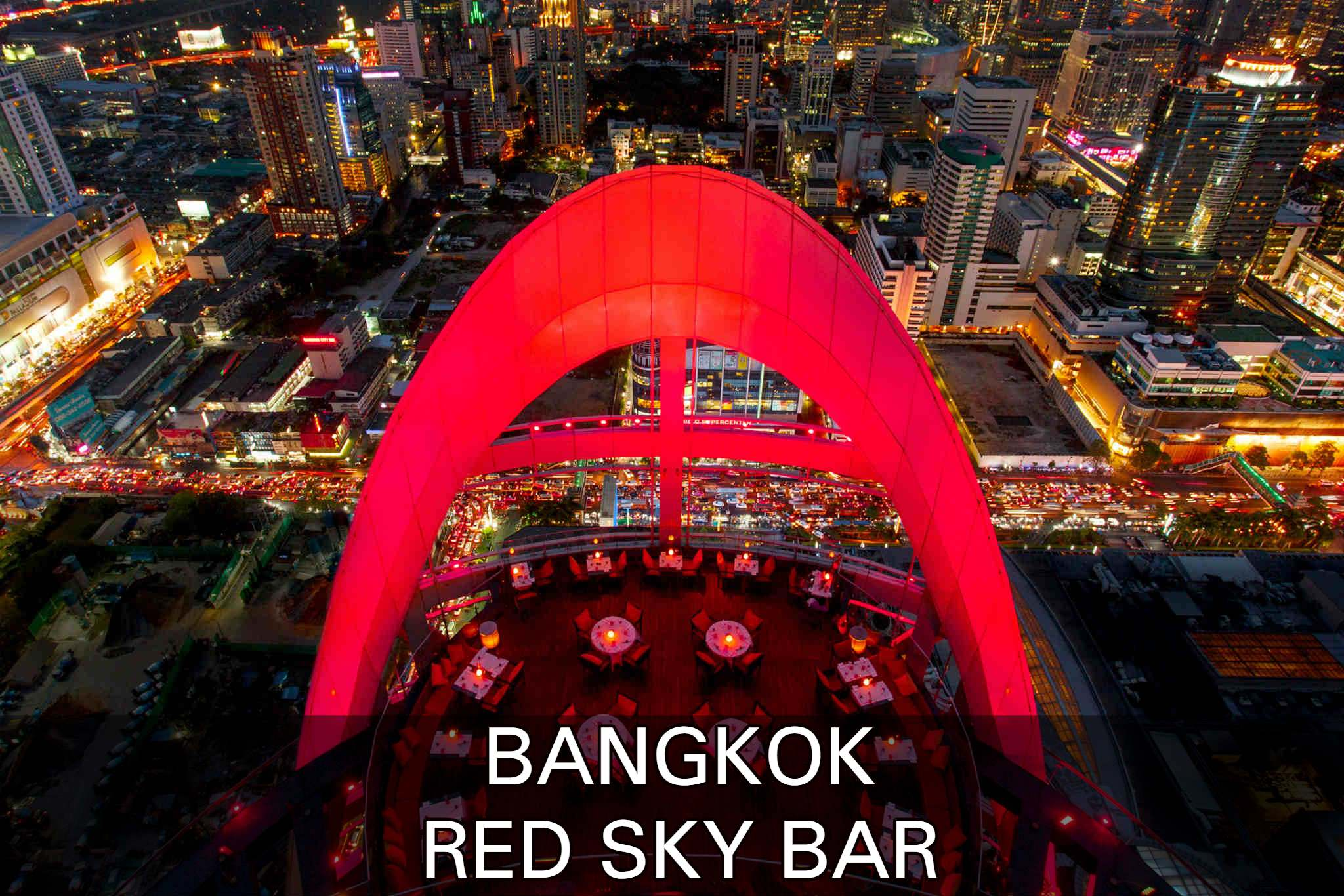 Lees hier alles over de sky bar Red Sky in Bangkok, Thailand.