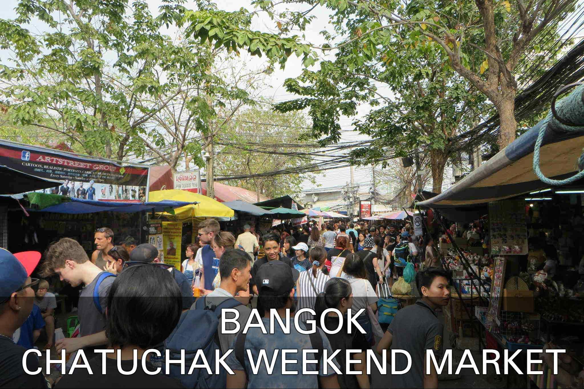 Chatuchak Weekend Market Vlakbij Bangkok, Thailand