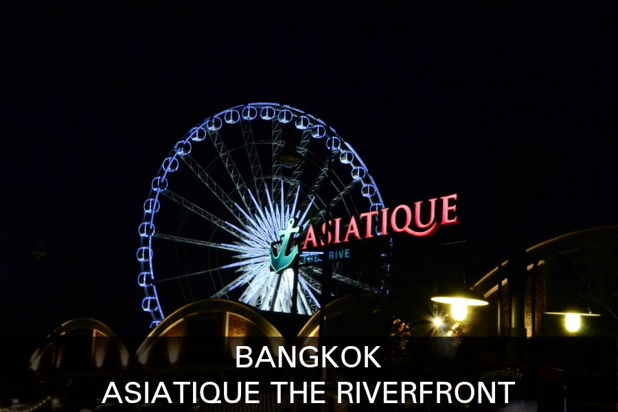 Read more about Asiatque The Riverfront.Ferris wheel of the asiatiaque the Riverfront market in Bangkok, Thailand.