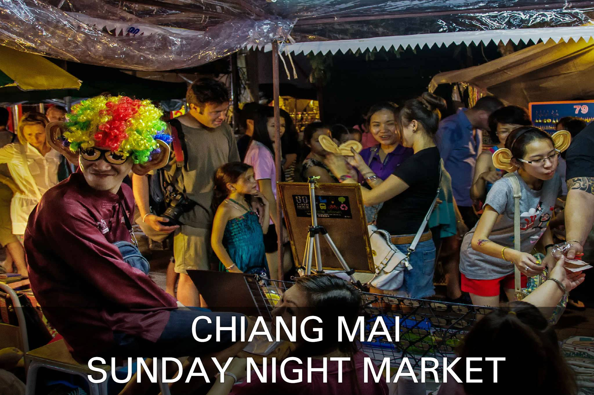 Sunaday Night Market In Chiang Mai, Thailand