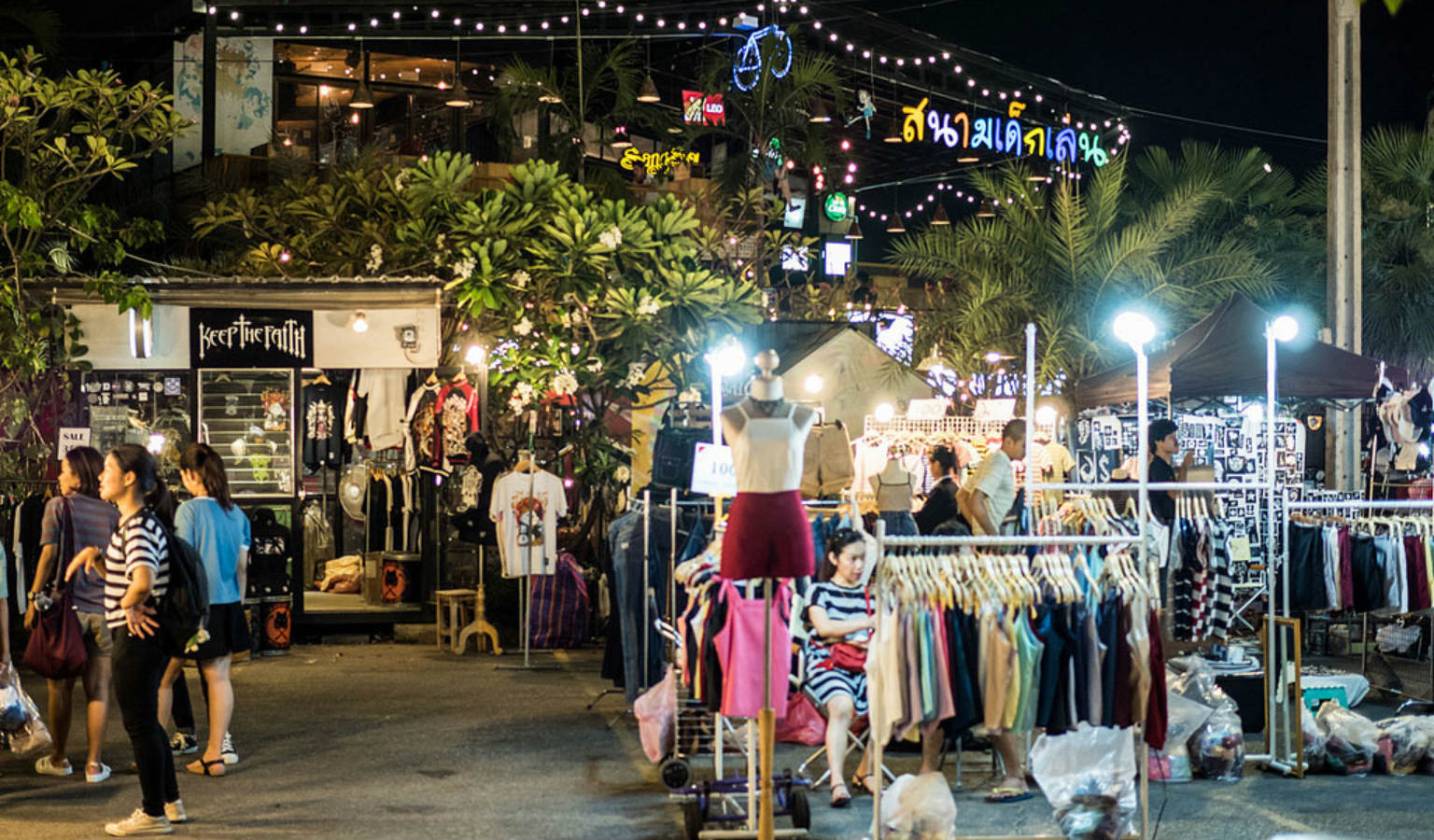 JJ Green Market in Bangkok, Chiang Mai