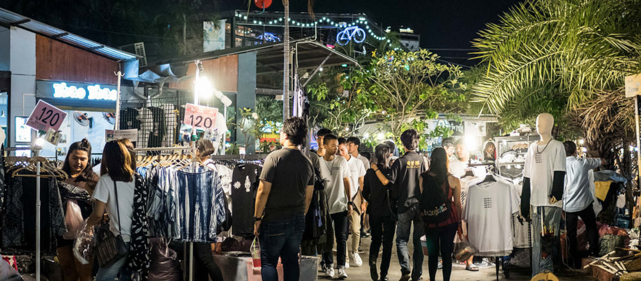 JJ Green Night Market in Bangkok, Thailand