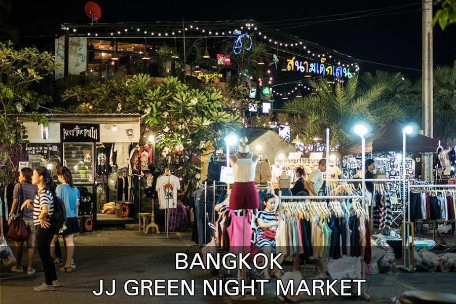 Marktkraampjes Met Kleding, Klik Hier Voor Alle Informatie Over De JJ Green Night Market In Bangkok, Thailand.