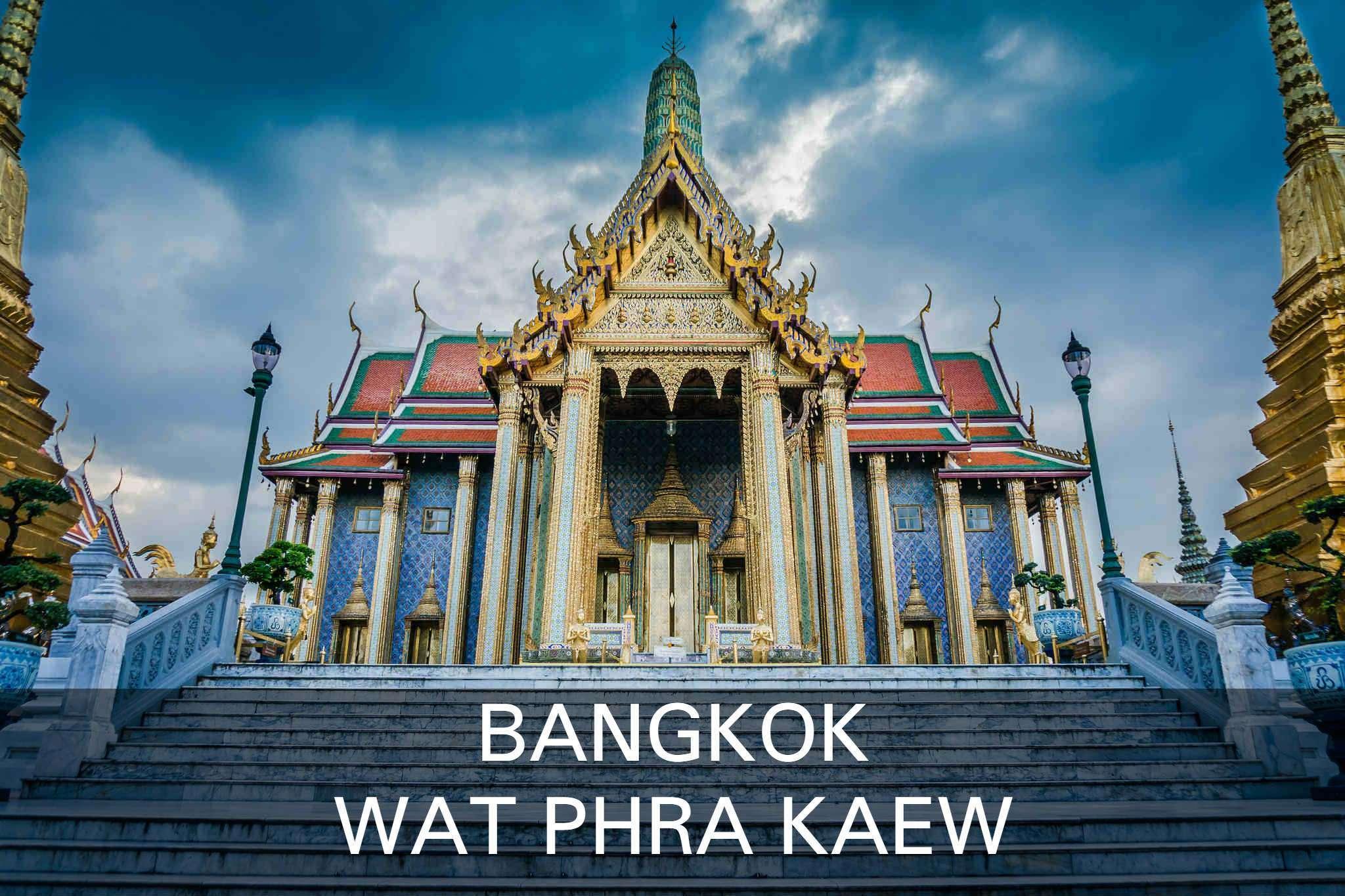 Wat Phra Kaew tempel emerald buddha in Bangkok, Thailand