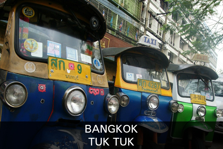 Read on for more information about the Tuk Tuk, transportation in Bangkok.