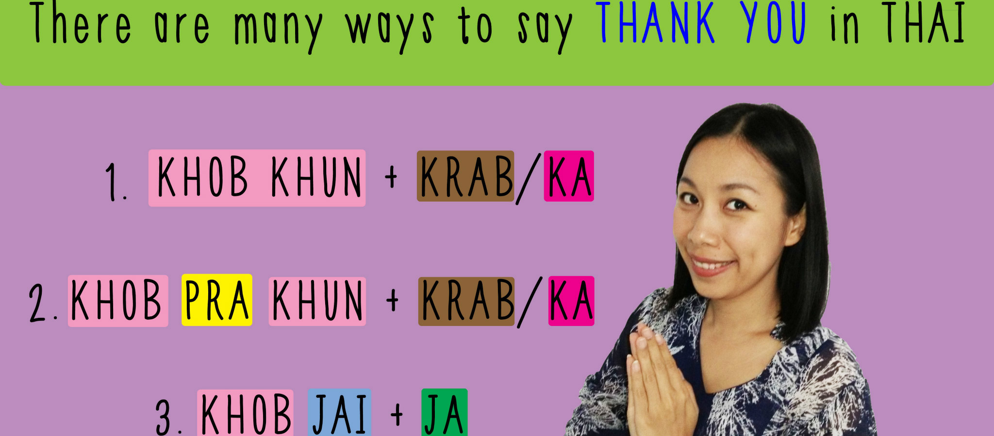 Ways to say thank you in Thai