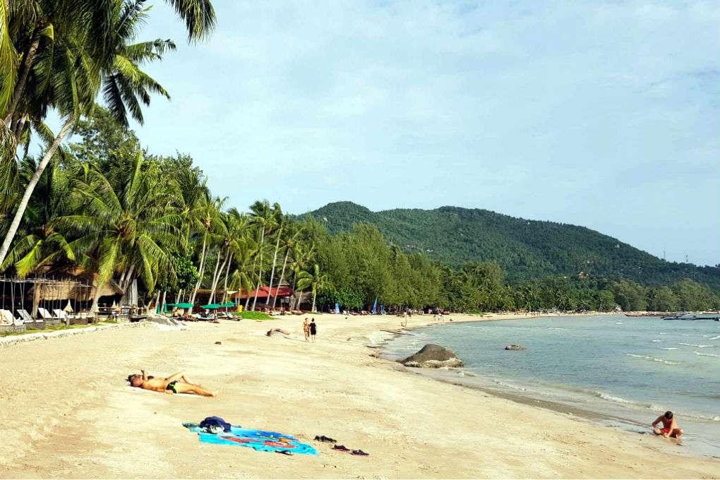 Strand van Sairee Beach, Koh Tao