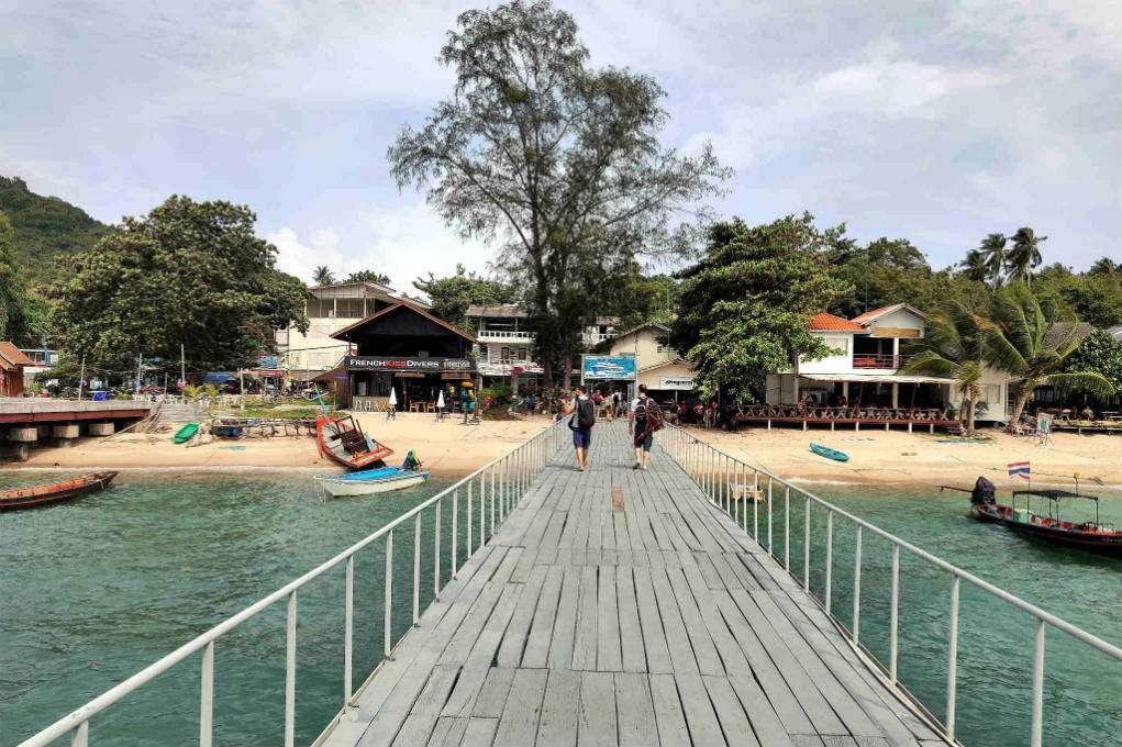 De Mae Haad Pier van Koh Tao