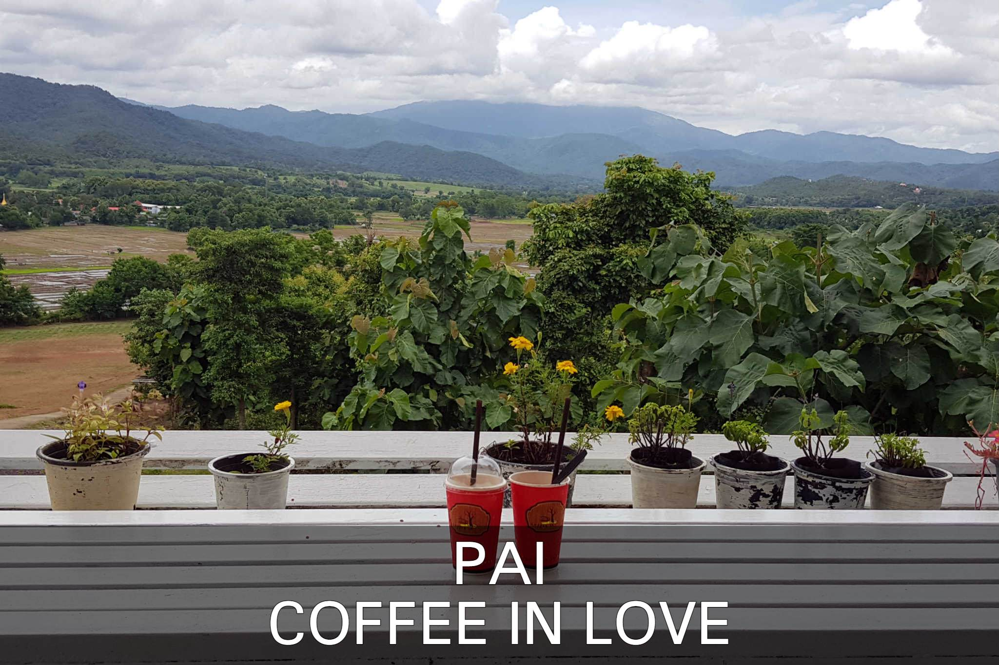 View From Coffee In Love Terrace In Pai, Thailand