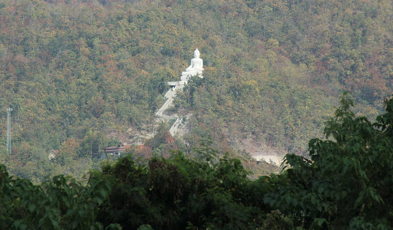 Temple on the Hill van ver in Pai, Thailand