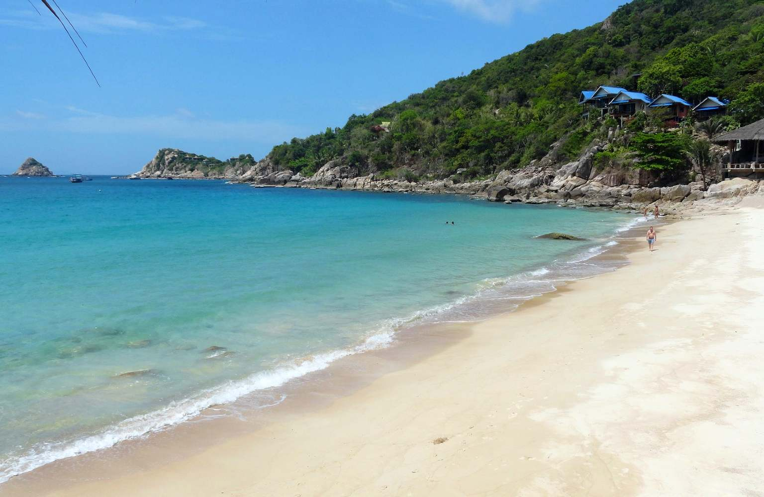de zee van de baai Aow Leuk op Koh Tao