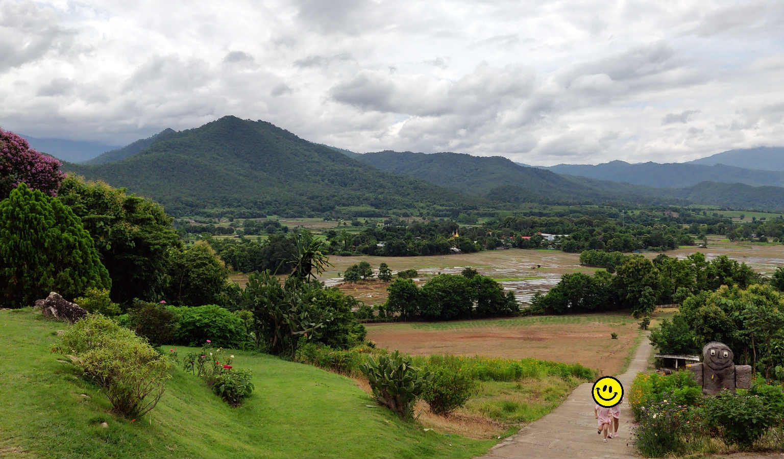 View from Coffee in Love in Pai, Thailand