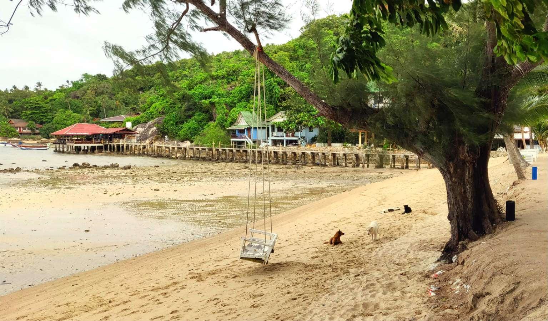 Ko Tao Chalok Baan Kao Bay, strand en laag water