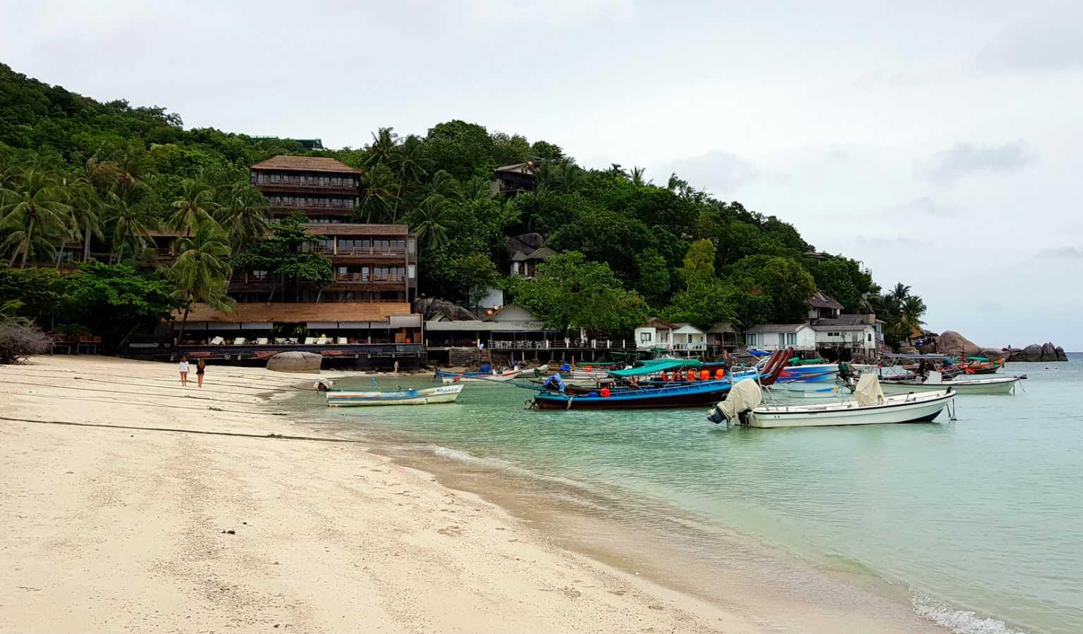 Het strand van Shark Bay (Thian Og Bay) op Koh Tao