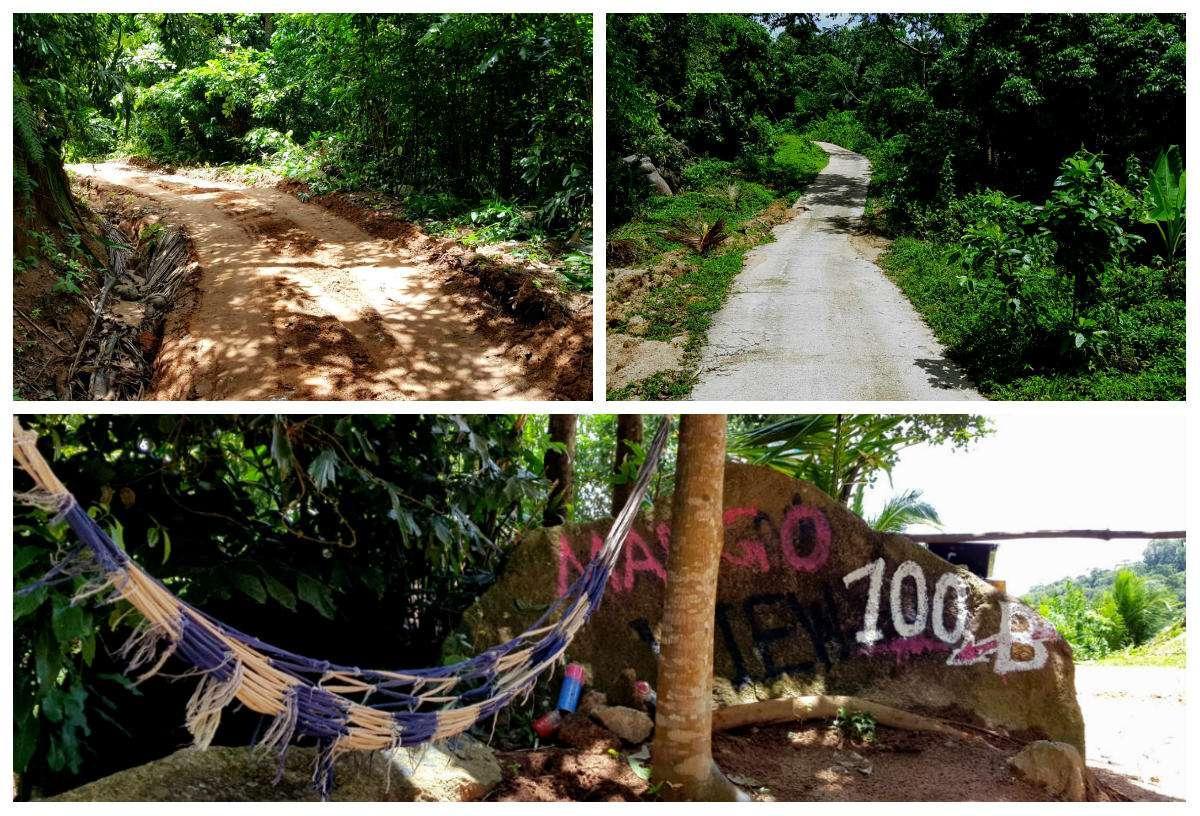 verschillende soorten wegen naar Mango Viewpoint