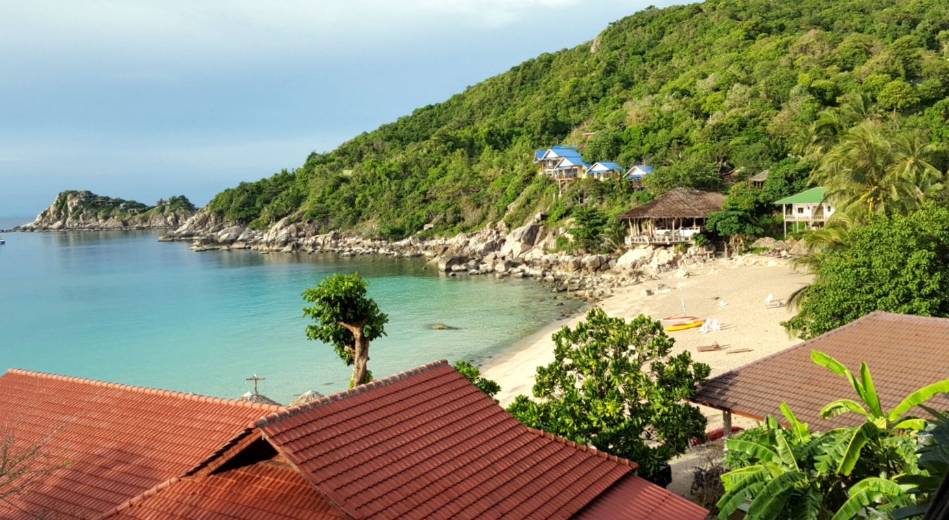 Aow Leuk, Ko Tao uitzicht over de baai