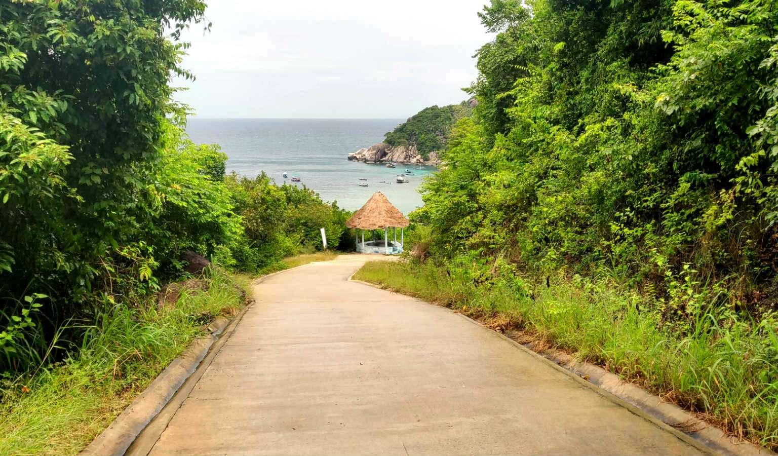 Weg naar Shark bay, thian Og Bay