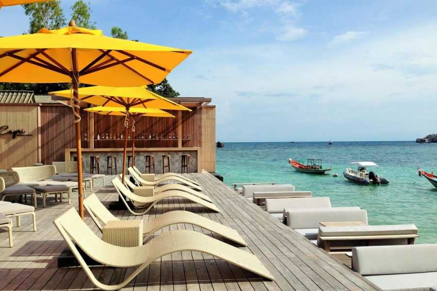 Beach Club Haadtien op Shark Bay (Thian Og Bay), Koh Tao