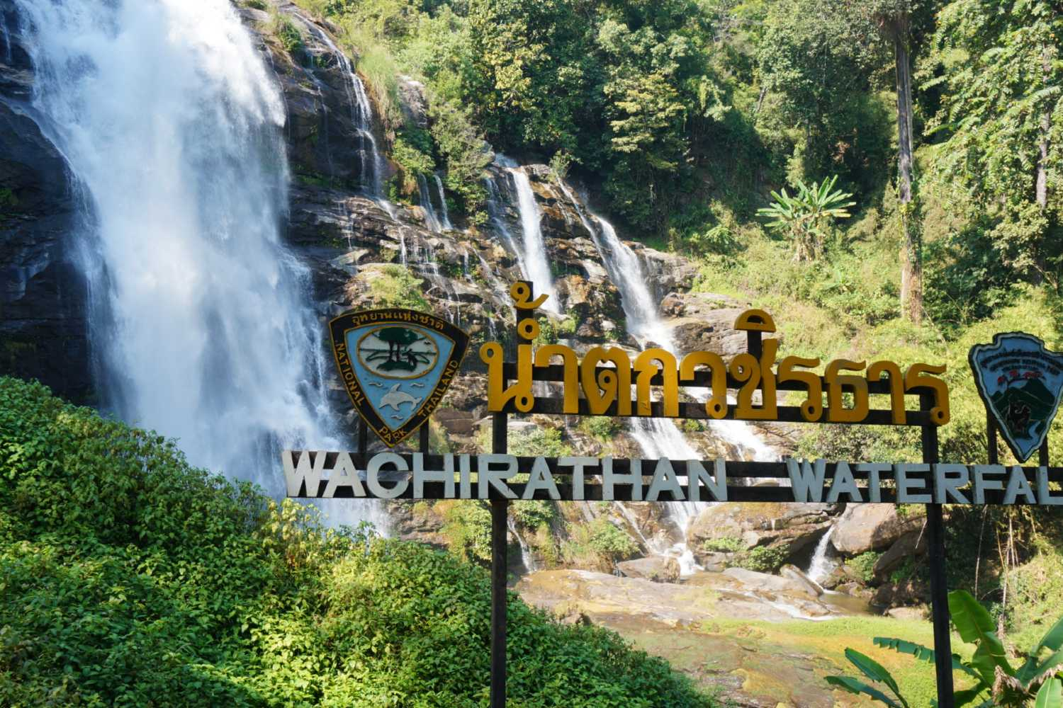 Wachirathan Waterval in het Doi Inthanon National Park vlakbij Chiang Mai