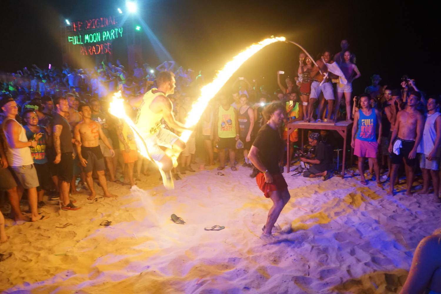 Playing with fire at the Full Moon Party on Koh Phangan