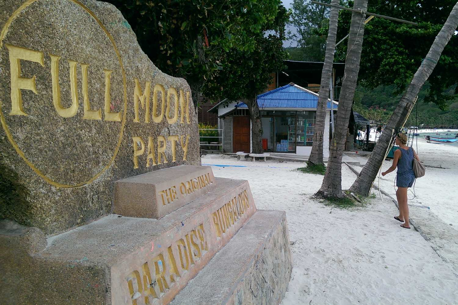 The Full Moon Party statue at Little Paradise Resort (Paradise Bungalows) in Koh Phangan where it all began.