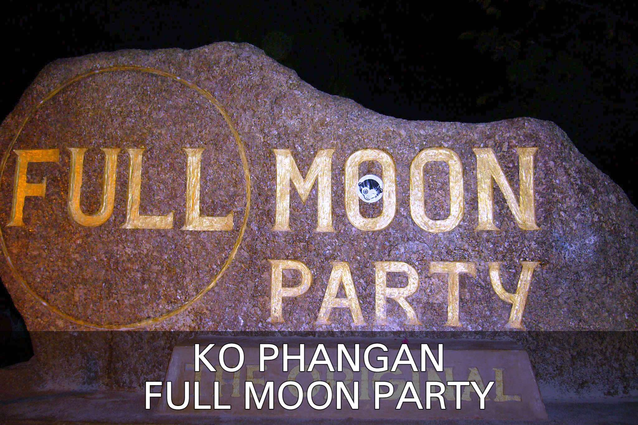 Full Moon Party At Haad Rin In Ko Phangan, Thailand