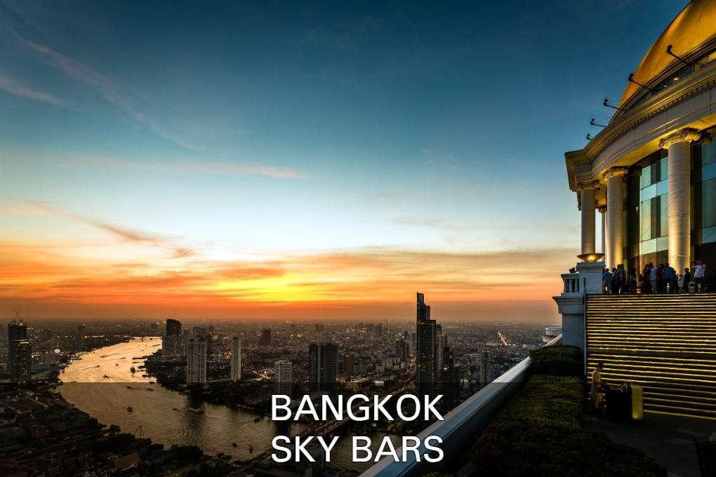 Uitzicht vanaf Lebua Sky Bar in Bangkok